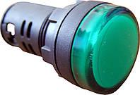 Светосигнальная арматура AD22-22DS зеленая  220V DC