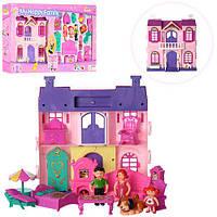 Замок для дівчинки фігурки 3шт,шезлонг,столик з парасолькою,в коробці