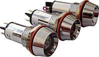 Светосигнальная арматура AD22C-12 красная  24V AC/DC