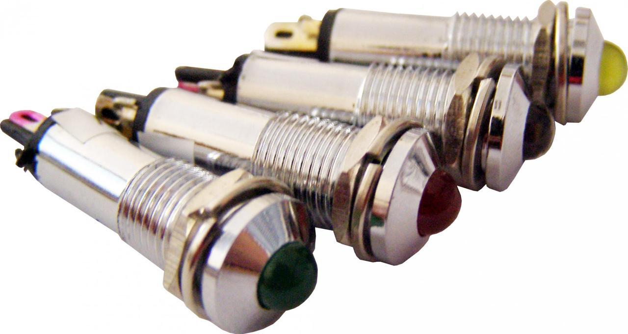 Светосигнальная арматура AD22B-8 желтая 24V  AC/DC
