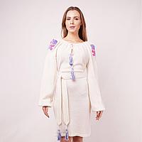 Вязаное платье вышиванка KAVERINA