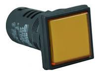 Светосигнальная арматура AD22-22F желтая 220V  АC