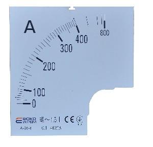 Шкала амперметра 400/5А к А-96-6