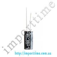 Конденсатор электролитический 2200мкФx25В, 105°C,10x25