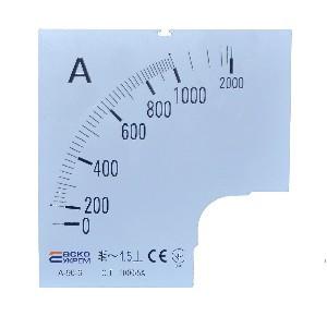 Шкала амперметра 1000/5А к А-96-6