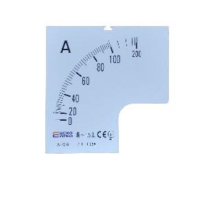 Шкала амперметра 100/5А к А-72-6