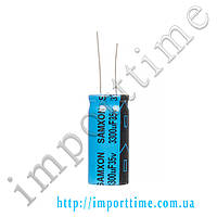 Конденсатор электролитический 3300мкФx35В, 105°C,16x35