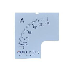 Шкала амперметра 1000/5А к А-72-6