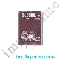 Конденсатор электролитический 6800мкФx50В, 105°C, 30x40