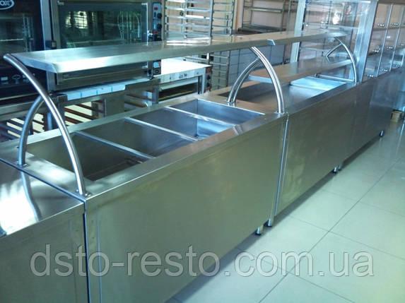 Мармит  вторых блюд со стеклом 1200/700/1400 мм (вместимость 3 GN1/1), фото 2