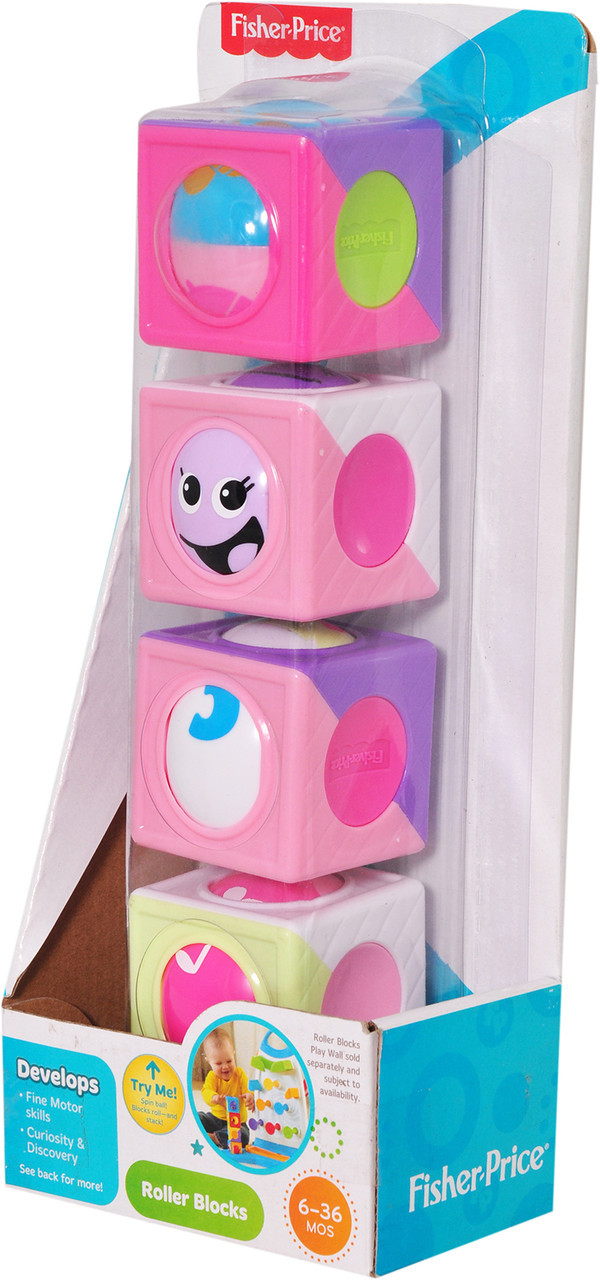 Детские Чудо кубики розовые Фишер Прайс Fisher Price CBL33