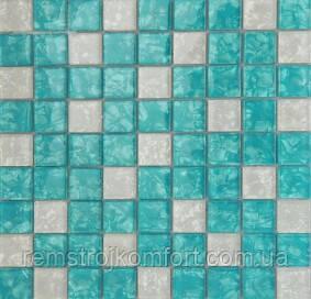 Мозаика Vivacer Декор Mix Blue 30x30/3.1x3.1
