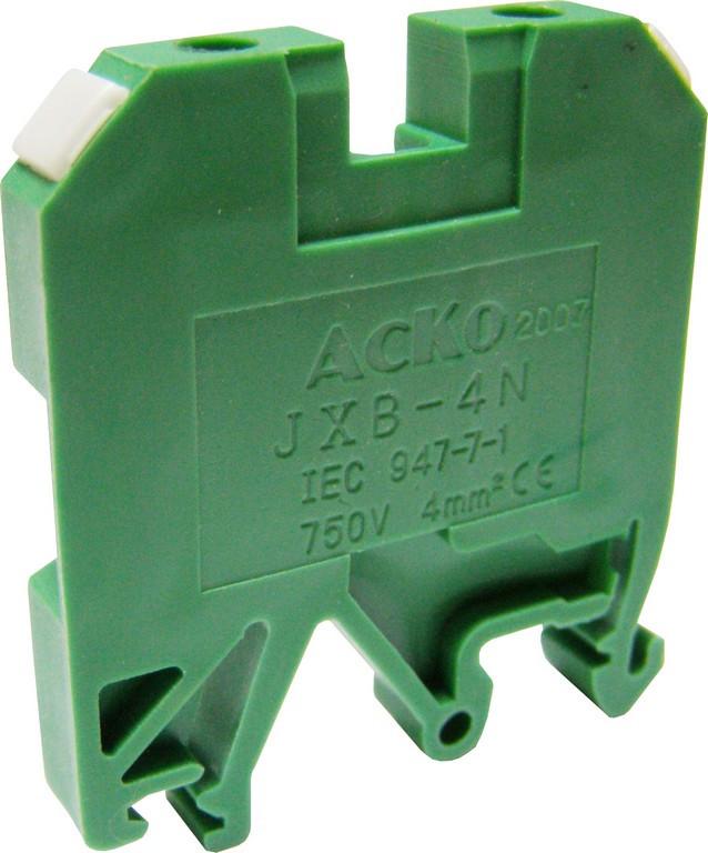 Клеммник JXB 4/35 зеленый