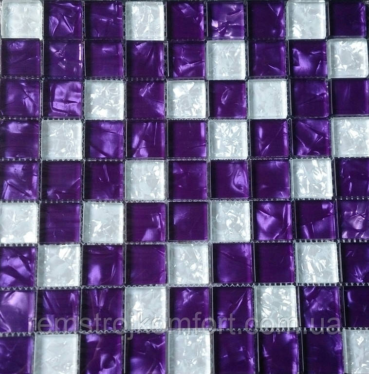 Мозаика Vivacer Декор Mix Violet 30x30/3.1x3.1