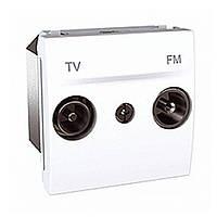 Розетка TV-FM Schneider Unica Белый (MGU3.451.18)
