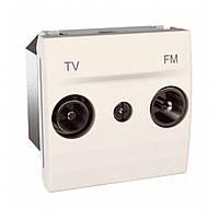 Розетка TV-FM оконечная Schneider Unica Кремовый  (MGU3.452.25)