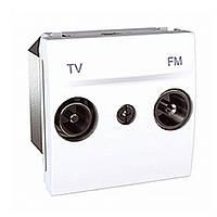 Розетка TV-FM проходная Schneider Unica Белый (MGU3.453.18)