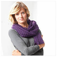 Оригинальная стильная вязанная шаль осень зима от тсм Tchibo размер универсальный