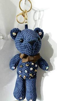 112 Брелки игрушки для сумок и ключей. Брелок вязаный медведь