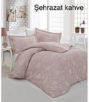 """Комплект постельного белья ALTINBASAK Сатин Deluxe """"Sehrazat"""" kahve Семейный"""