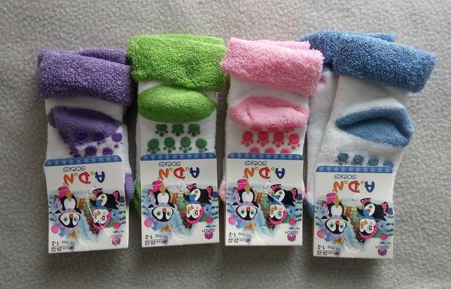 Детские махровые носки 1-2 года Турция 12 шт/уп