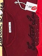 Женская кофта с вырезом X006 54, Бордовый