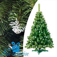 Искусственная рождественская ель ЕВРОПЕЙСКАЯ с белыми кончиками 100 см