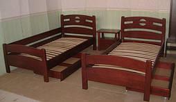 """Деревянная мебель (односпальная кровать """"Сакура"""", комод """"Конго-3"""" и тумбочка """"Сакура-2"""") 1"""