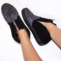 Женские ботинки. Натуральная кожа. Стильные женские сапоги. Зимняя обувь.