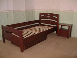 """Деревянная мебель (односпальная кровать """"Сакура"""", комод """"Конго-3"""" и тумбочка """"Сакура-2"""") 3"""