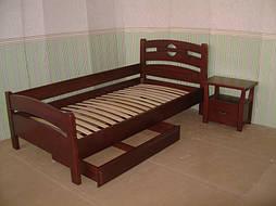 """Деревянная мебель (односпальная кровать """"Сакура"""", комод """"Конго-3"""" и тумбочка """"Сакура-2"""") 4"""