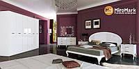 Спальня Імперія, комплект 3 дв, білий глянець,МИРОМАРК, фото 1