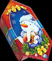 "Упаковка для конфет новогодняя ""Цукерка сніговик"" для сладостей 150-200г новогодняя"
