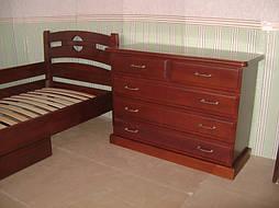 """Деревянная мебель (односпальная кровать """"Сакура"""", комод """"Конго-3"""" и тумбочка """"Сакура-2"""") 8"""