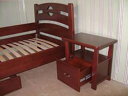 """Деревянная мебель (односпальная кровать """"Сакура"""", комод """"Конго-3"""" и тумбочка """"Сакура-2"""") 10"""