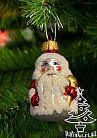 Стеклянная елочная игрушка Дед Мороз маленький 1838