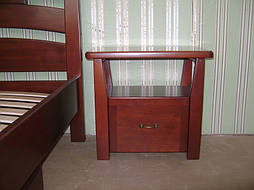"""Деревянная мебель (односпальная кровать """"Сакура"""", комод """"Конго-3"""" и тумбочка """"Сакура-2"""") 12"""