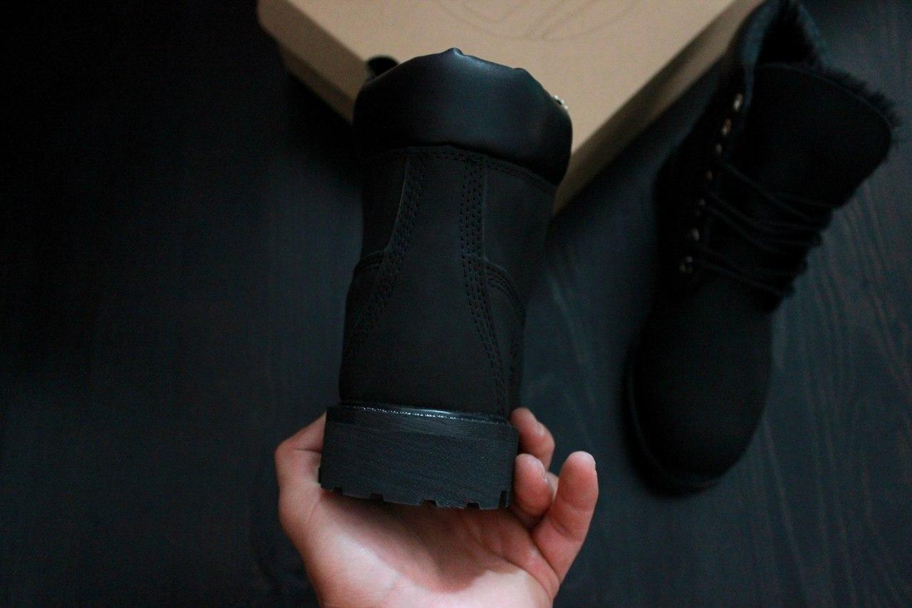 32bcdc0c0 ... Зимние мужские ботинки Timberland Classic Black Boots с натуральным  мехом, ...