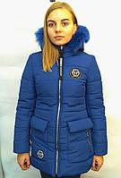 Модная зимняя куртка-пальто для девочки, р. 150-170