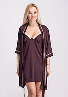 Комплект женский ночная рубашка-халат, домашняя одежда К020н