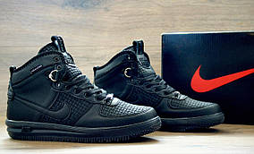 Кроссовки мужские демисезонные Nike Lunar Force 1 High Black edition реплика