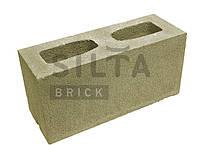 Блок гладкий Силта-Брик, 390х190х140, Цветной 25 Оливковый