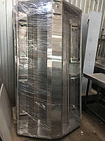 Зонт островной вытяжной с фильтрами 3000х2000х400 мм из нержавеющей стали для низких потолков