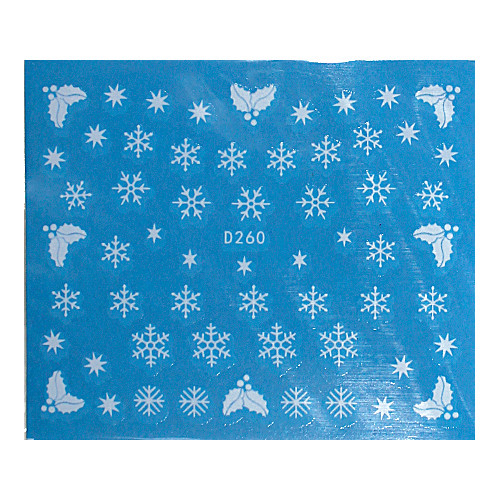 KATTi Наклейки водные - D 260 белые снежинки (новый год)