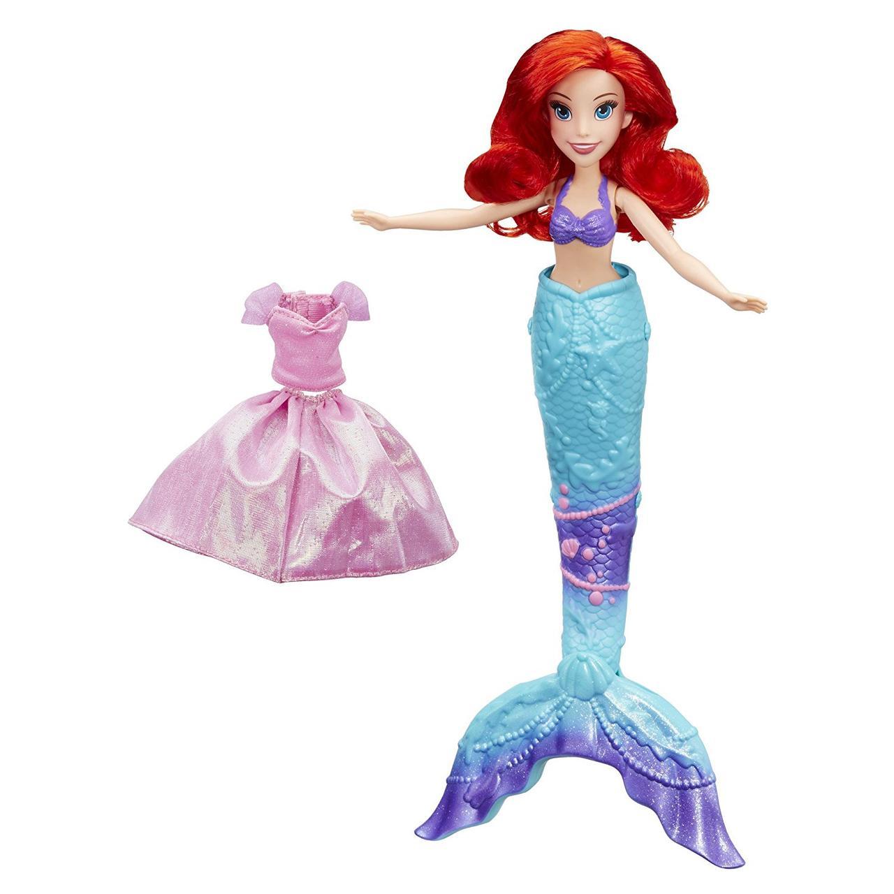 Кукла Принцесса Ариель, превращающаяся из Русалки в девушку