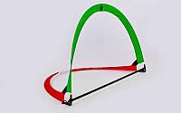 Складные футбольные ворота для тренировок 6397: размер 113x83x83см, пластик + сетка (PVC чехол)