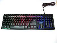 Проводная USB клавиатура с подсветкой, LED Backlight Keyboard ZYG-800