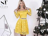Долгожданное коктейльное платье из гипюра для модниц!