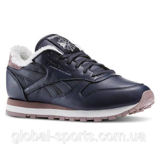 Женские зимние кроссовки Reebok Classic Leather Sherpa(Артикул:AR2788)