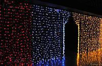 Светодиодная Гирлянда Штора Новогодняя Занавеска 600 LED Цвета в Ассортименте, фото 1